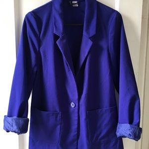 H&M Royal Blue Blazer with pockets